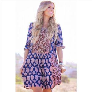 ANTHROPOLOGIE Paquerette Boho Flowy Shirt Dress